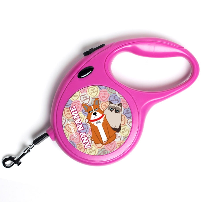 Grumpy Cat Lovehearts Dog Lead - Image 1