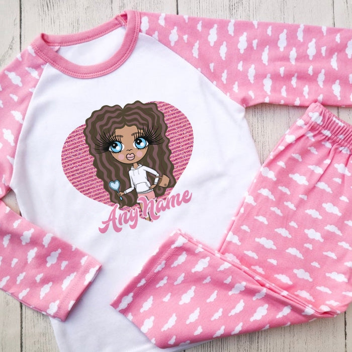 ClaireaBella Girls Heart Pyjamas - Image 1
