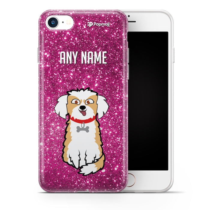 Personalised Dog Glitter Effect Phone Case - Image 1