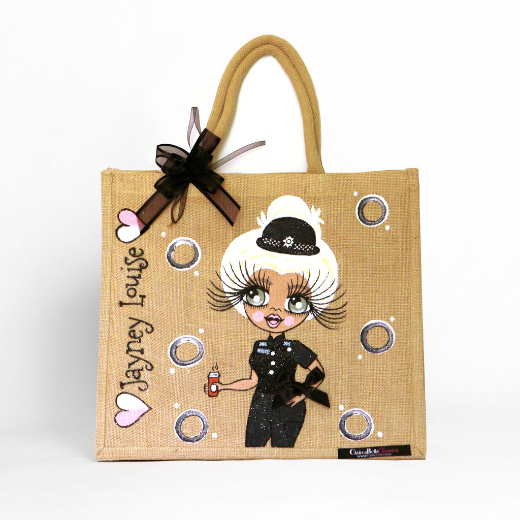 ClaireaBella Police Jute Bag - Large
