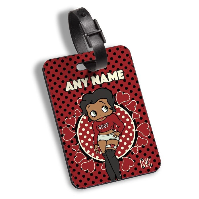 Betty Boop Polka Love Luggage Tag - Image 1