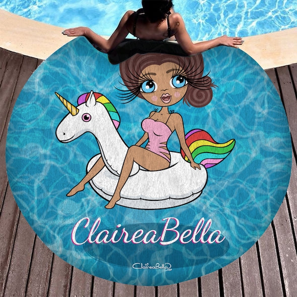 ClaireaBella Pool Side Circular Beach Towel - Image 1