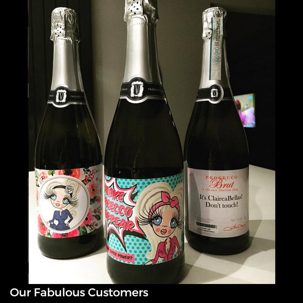 ClaireaBella Personalised Prosecco - Classic Floral - Image 4