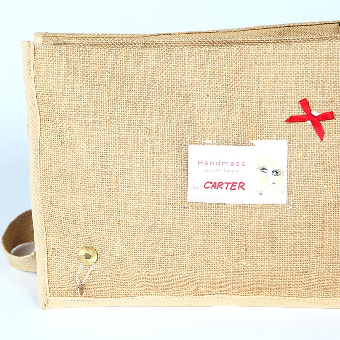 Early Years Sleepy Newborn Jute Satchel Bag - Image 3