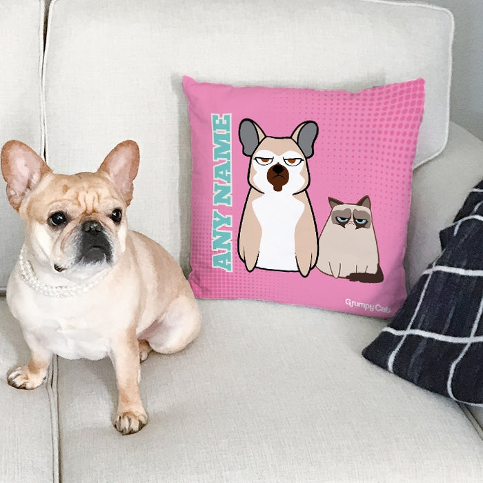 Grumpy Cat Pink Cushion - Image 1