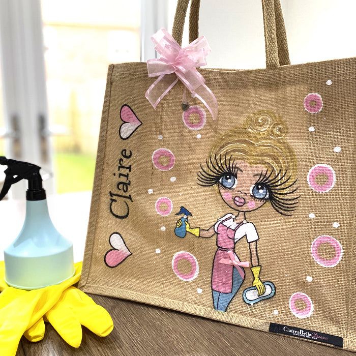 ClaireaBella Queen Of Clean Large Jute Bag