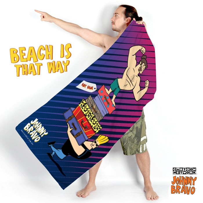 Johnny Bravo Guys Luggage Beach Towel - Image 5