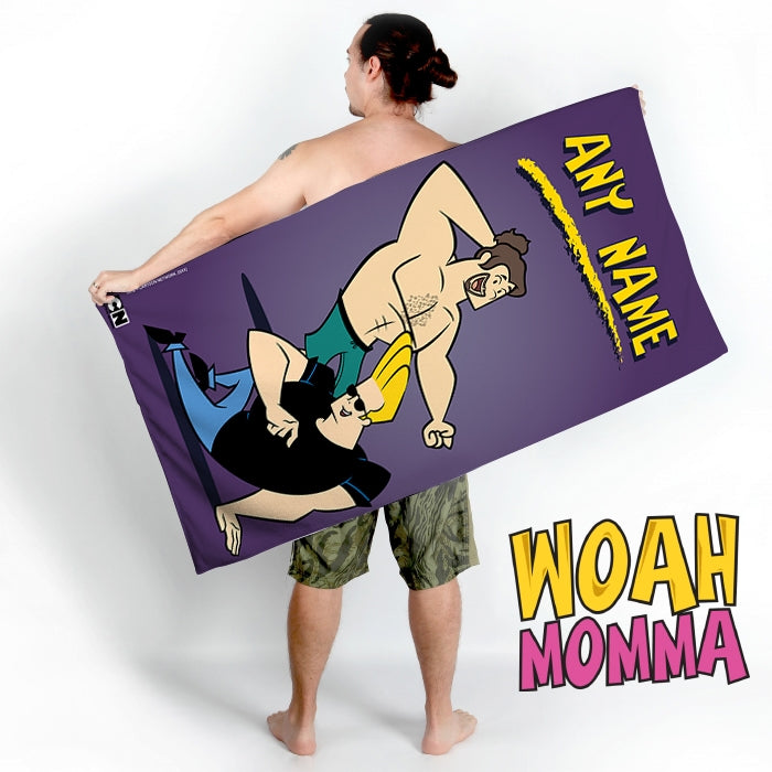 Johnny Bravo Guys Purple Beach Towel - Image 4