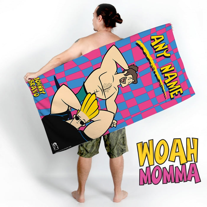Johnny Bravo Guys Disco Squares Beach Towel - Image 5