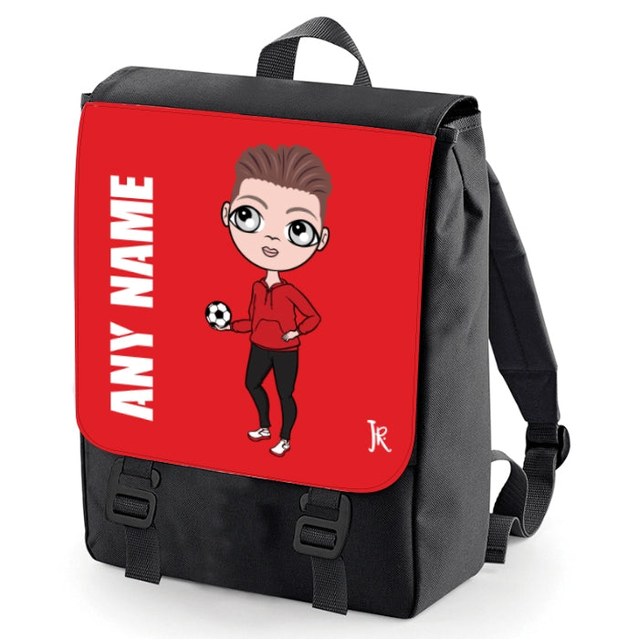 Jnr Boys Red Print Backpack - Image 1