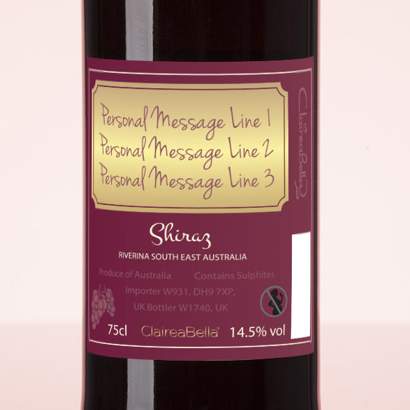ClaireaBella Personalised Red Wine - Golden Vintage - Image 3