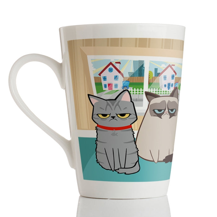 Grumpy Cat Care Latte Mug - Image 4