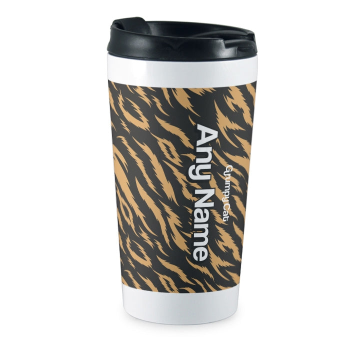 Grumpy Cat Animal Print Travel Mug - Image 3