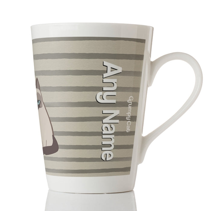 Grumpy Cat Stripe Latte Mug - Image 2