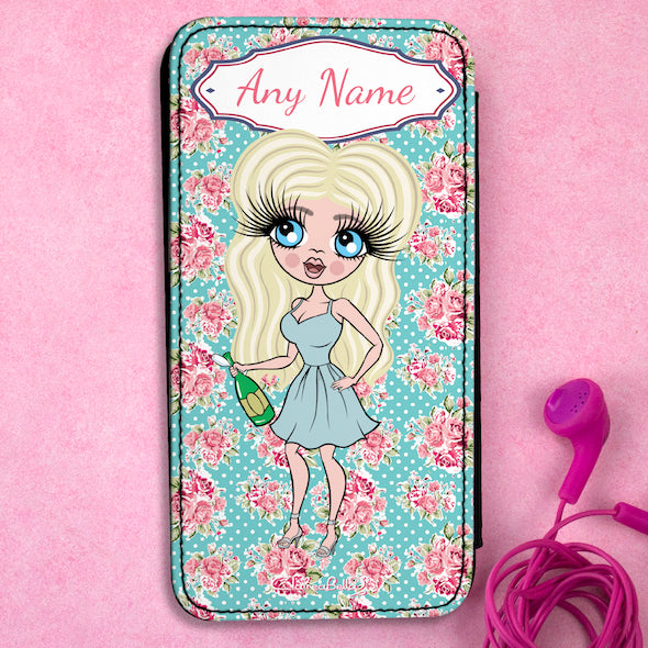 ClaireaBella Personalised Rose Flip Phone Case - Image 1