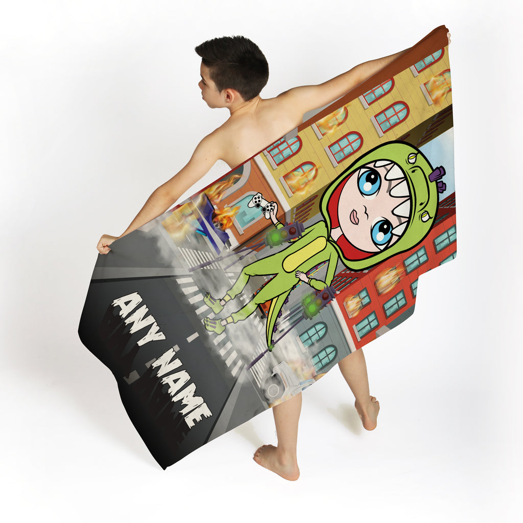 Jnr Boys Monster Mayhem Beach Towel