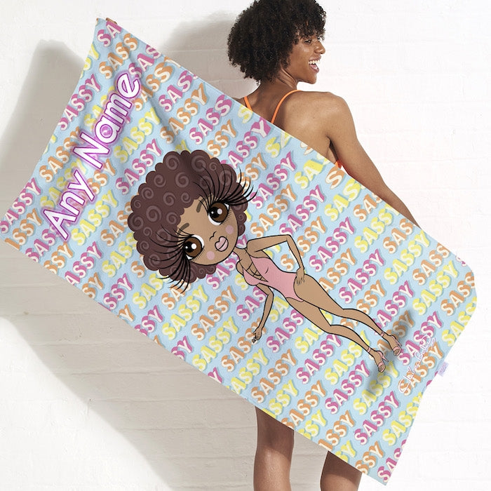 ClaireaBella Sassy Print Beach Towel - Image 3