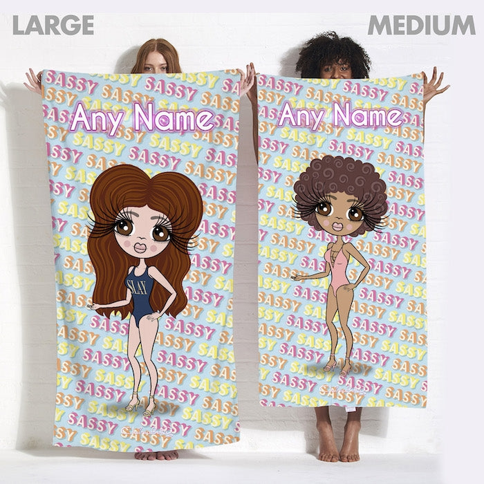 ClaireaBella Sassy Print Beach Towel - Image 6