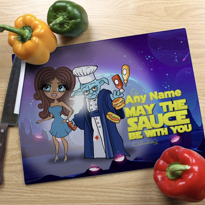 ClaireaBella Landscape Glass Chopping Board - May The Sauce - Image 1