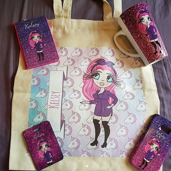 ClaireaBella Unicorn Emoji Canvas Bag - Image 6