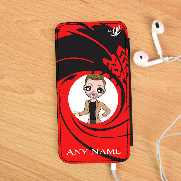 MrCB Personalised Secret Agent Flip Phone Case - Image 1