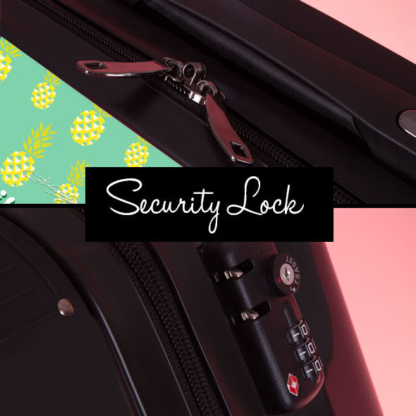 ClaireaBella Pineapple Print Suitcase - Image 8