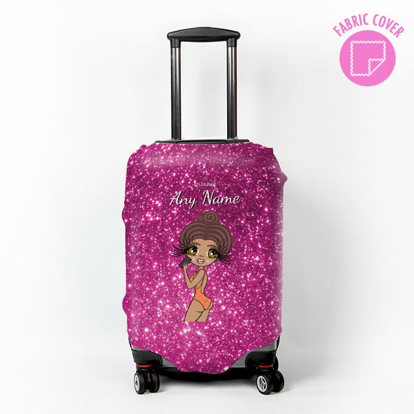 ClaireaBella Selfie Glitter Effect Suitcase Cover