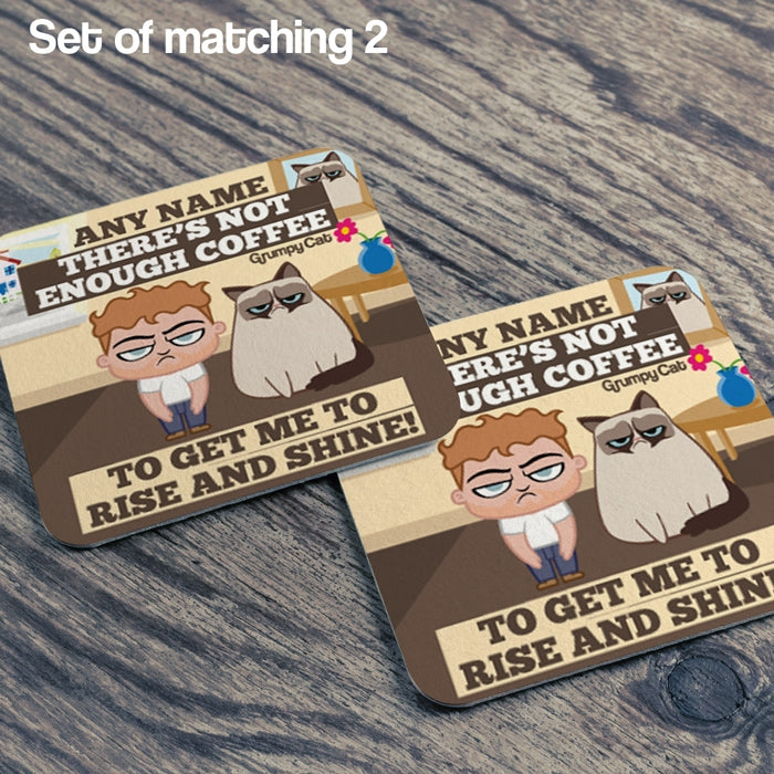 Grumpy Cat Rise And Shine Coaster - Image 2