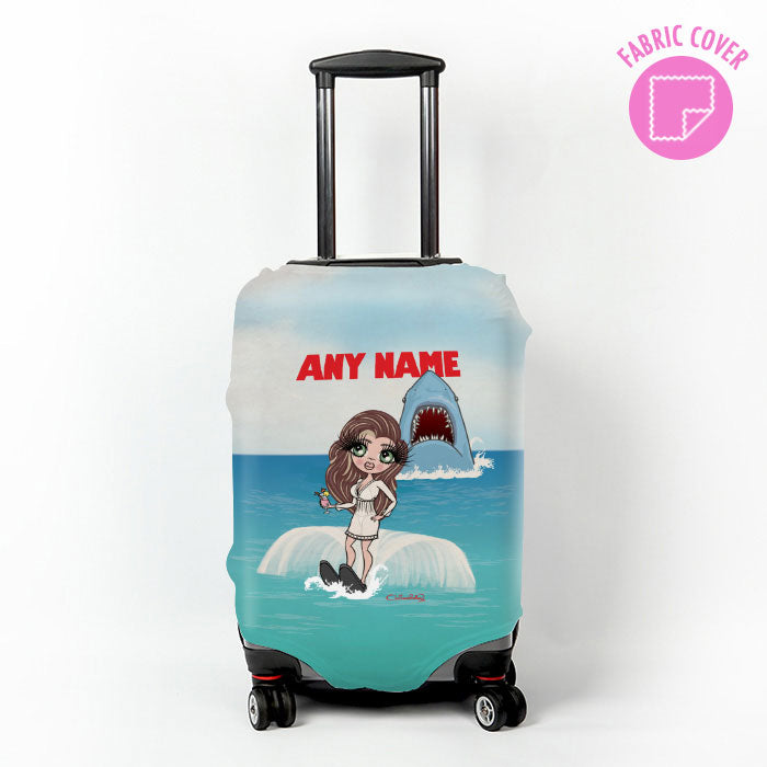 ClaireaBella Retro Shark Attack Suitcase Cover