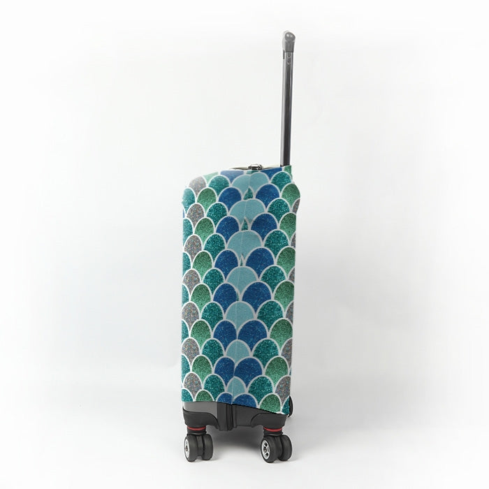ClaireaBella Mermaid Glitter Effect Suitcase Cover - Image 2