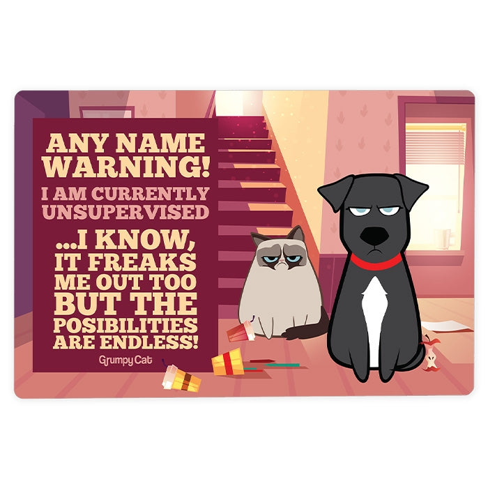 Grumpy Cat Unsupervised House Sign - Image 3