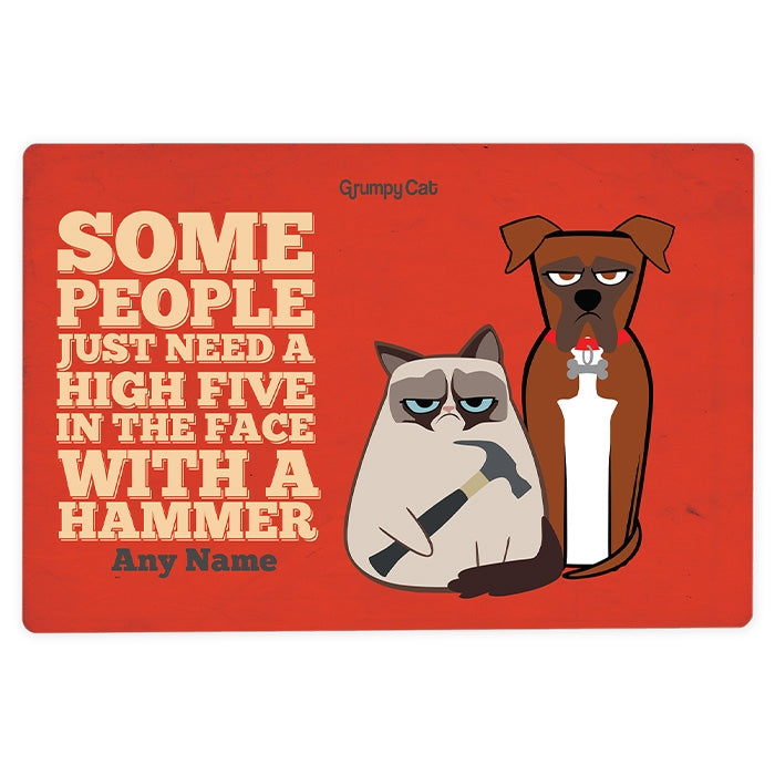 Grumpy Cat High Five House Sign - Image 3