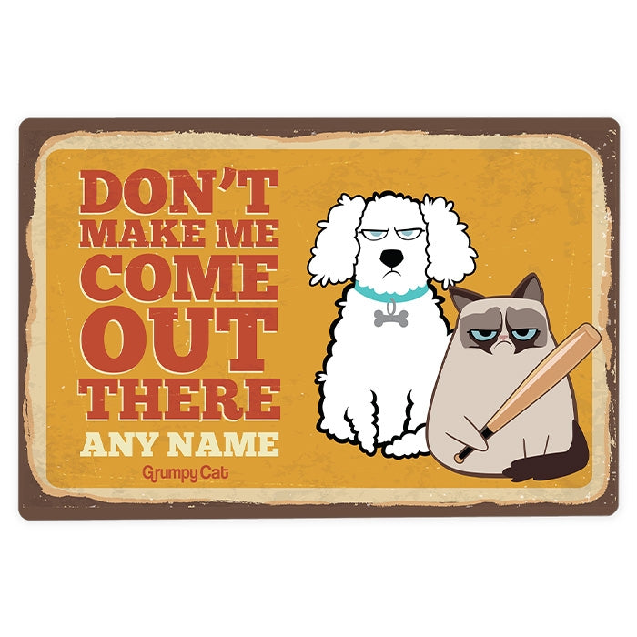 Grumpy Cat Don't Make Me House Sign - Image 3