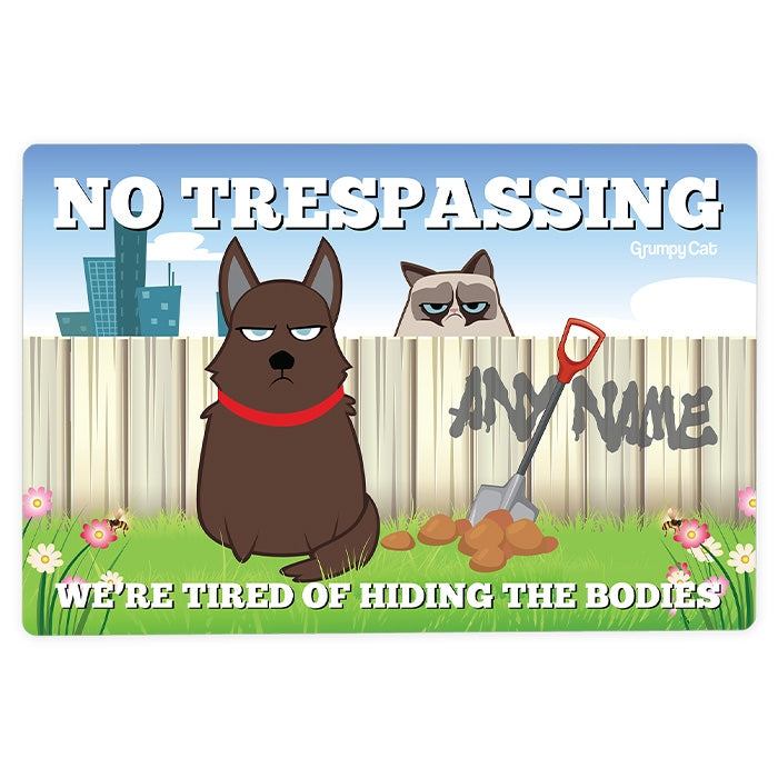 Grumpy Cat No Trespassing House Sign - Image 3