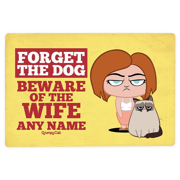 Grumpy Cat Beware Wife House Sign - Image 3