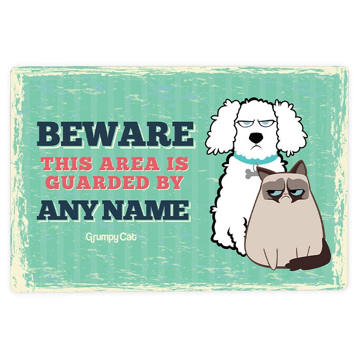 Grumpy Cat Beware House Sign - Image 3