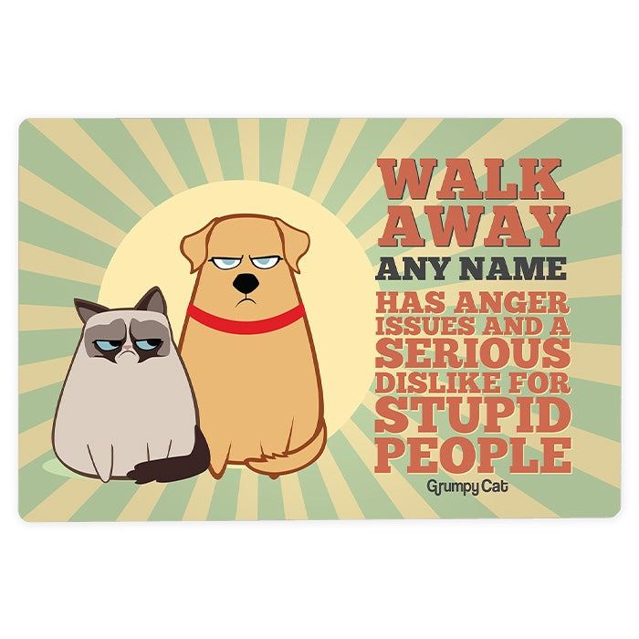 Grumpy Cat Anger Issues House Sign - Image 3