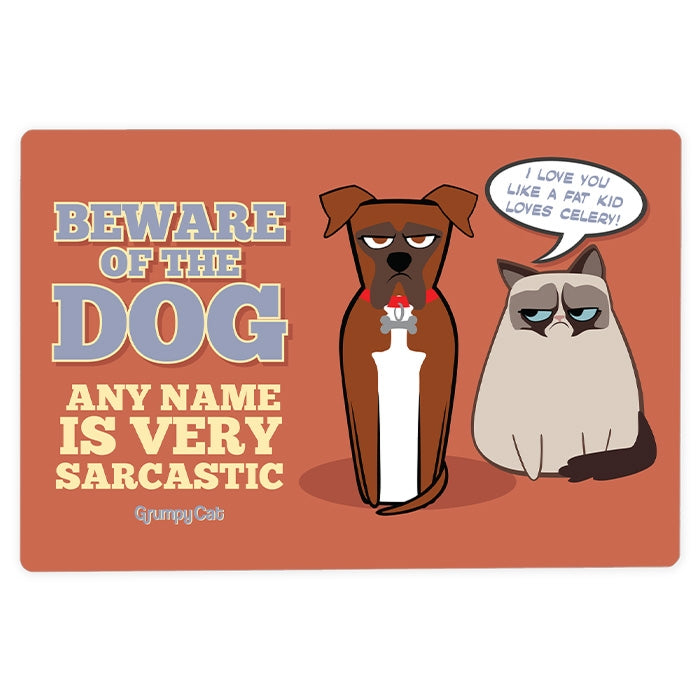 Grumpy Cat Sarcastic Dog House Sign - Image 3