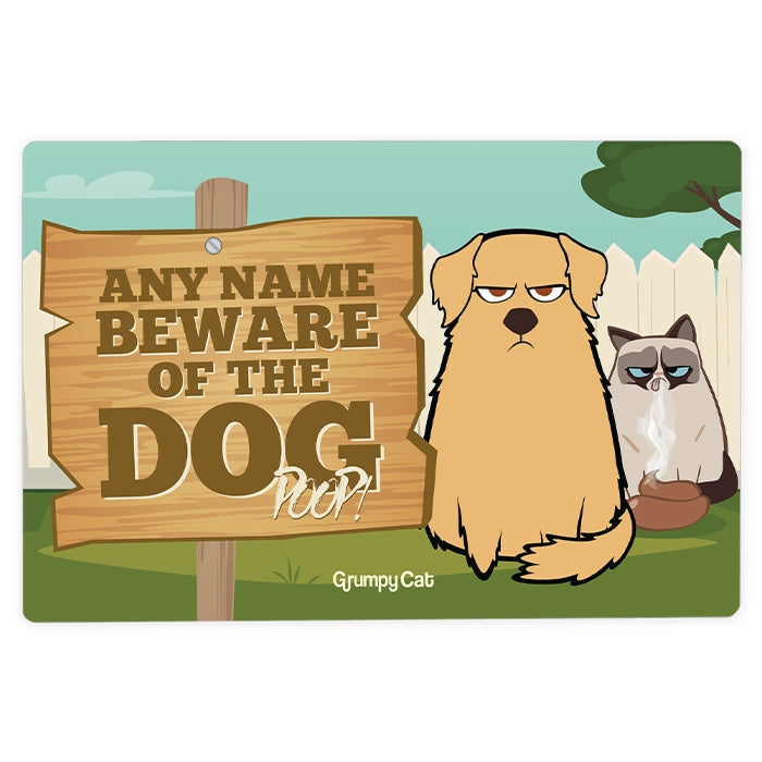 Grumpy Cat Dog Poop House Sign - Image 3