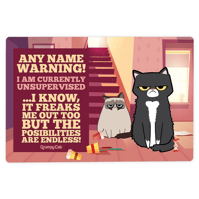 Grumpy Cat Unsupervised House Sign - Image 2