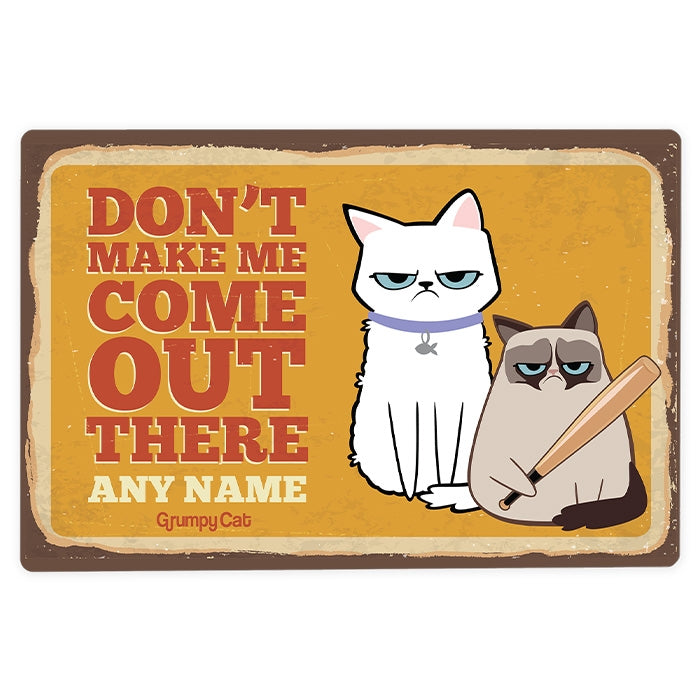 Grumpy Cat Don't Make Me House Sign - Image 2