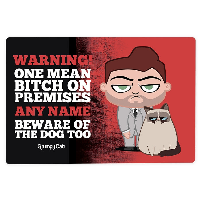 Grumpy Cat Warning House Sign - Image 4