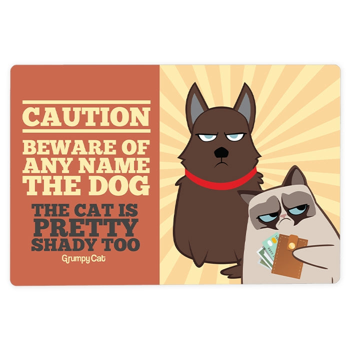 Grumpy Cat Caution House Sign - Image 1