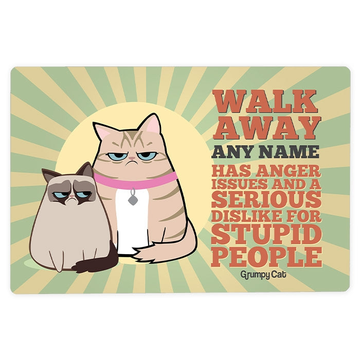 Grumpy Cat Anger Issues House Sign - Image 2
