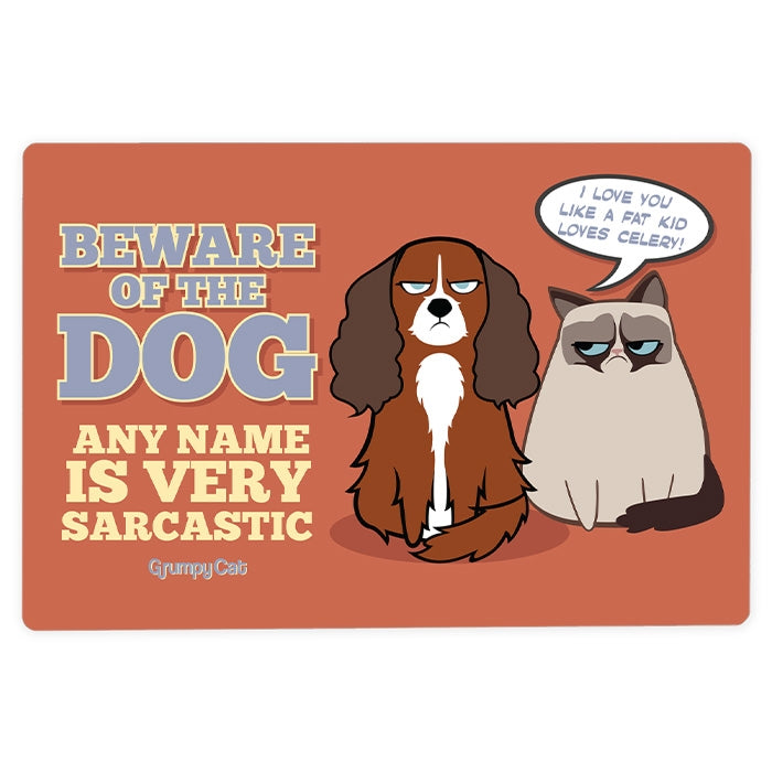 Grumpy Cat Sarcastic Dog House Sign - Image 1