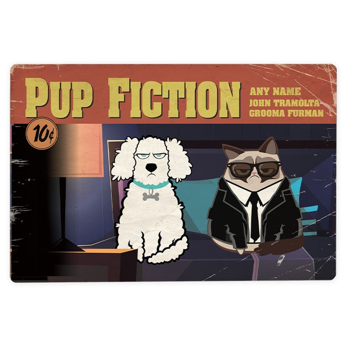 Grumpy Cat Pup Fiction House Sign - Image 2