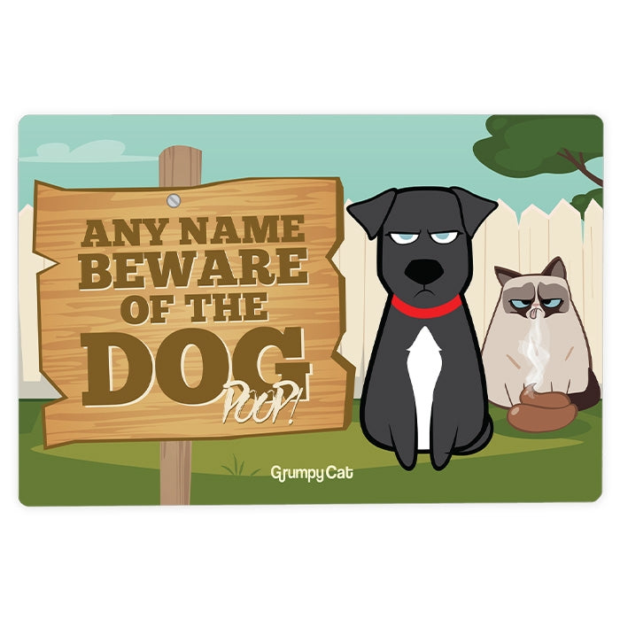 Grumpy Cat Dog Poop House Sign - Image 2