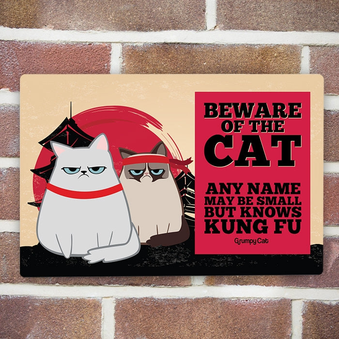 Grumpy Cat Kung Fu House Sign - Image 1