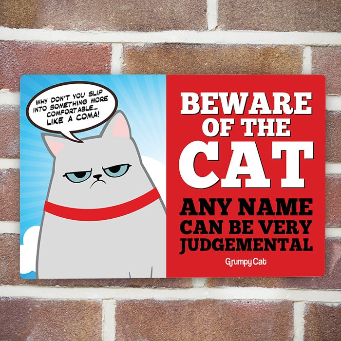 Grumpy Cat Judgemental House Sign - Image 2