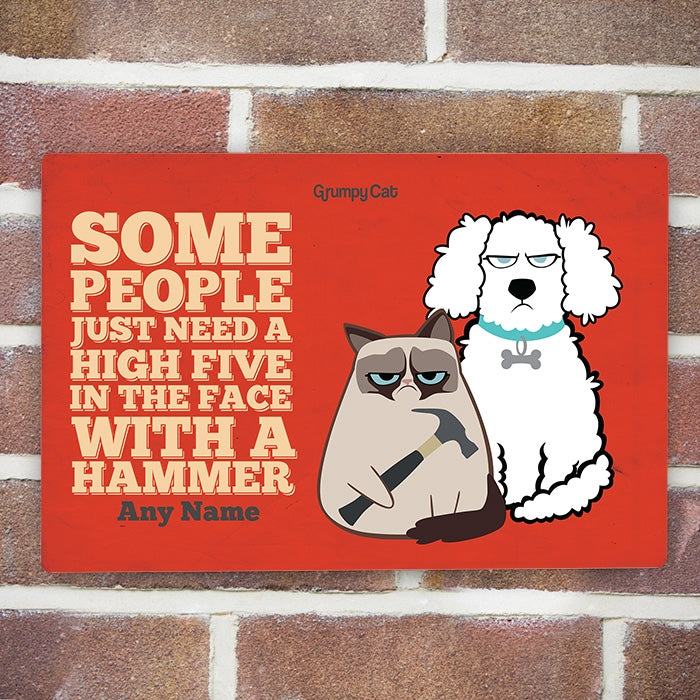 Grumpy Cat High Five House Sign - Image 1